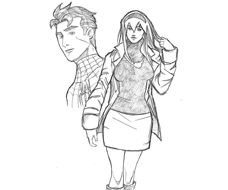 gwen stacy spiderman coloring pages how to draw gwen stacy spider man into the spider verse coloring stacy pages spiderman gwen