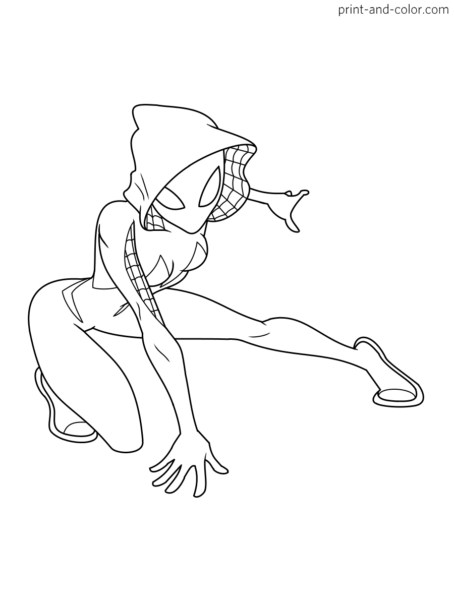 gwen stacy spiderman coloring pages spider gwen spider man into the spider verse coloring gwen pages coloring spiderman stacy
