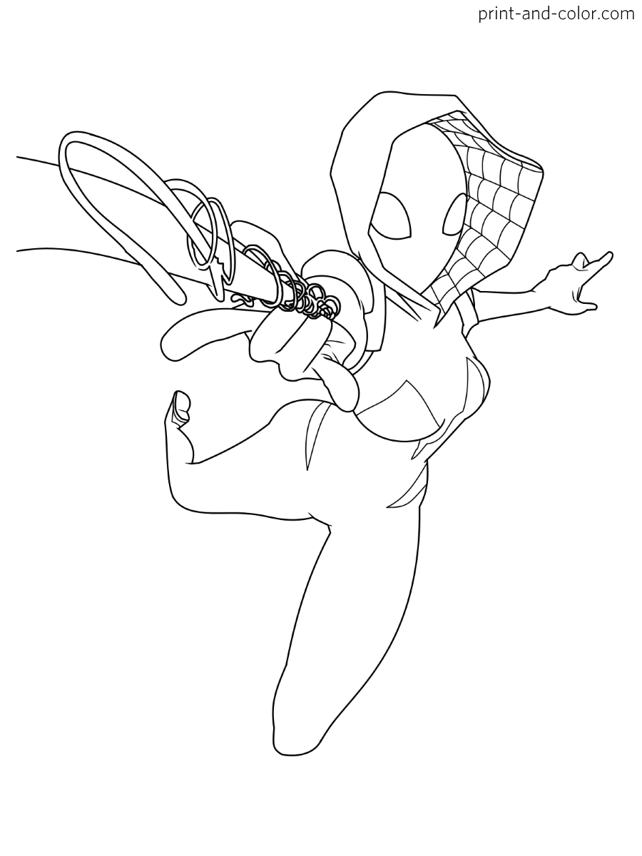 gwen stacy spiderman coloring pages the amazing spider man gwen stacy yumiko fujiwara gwen coloring spiderman stacy pages