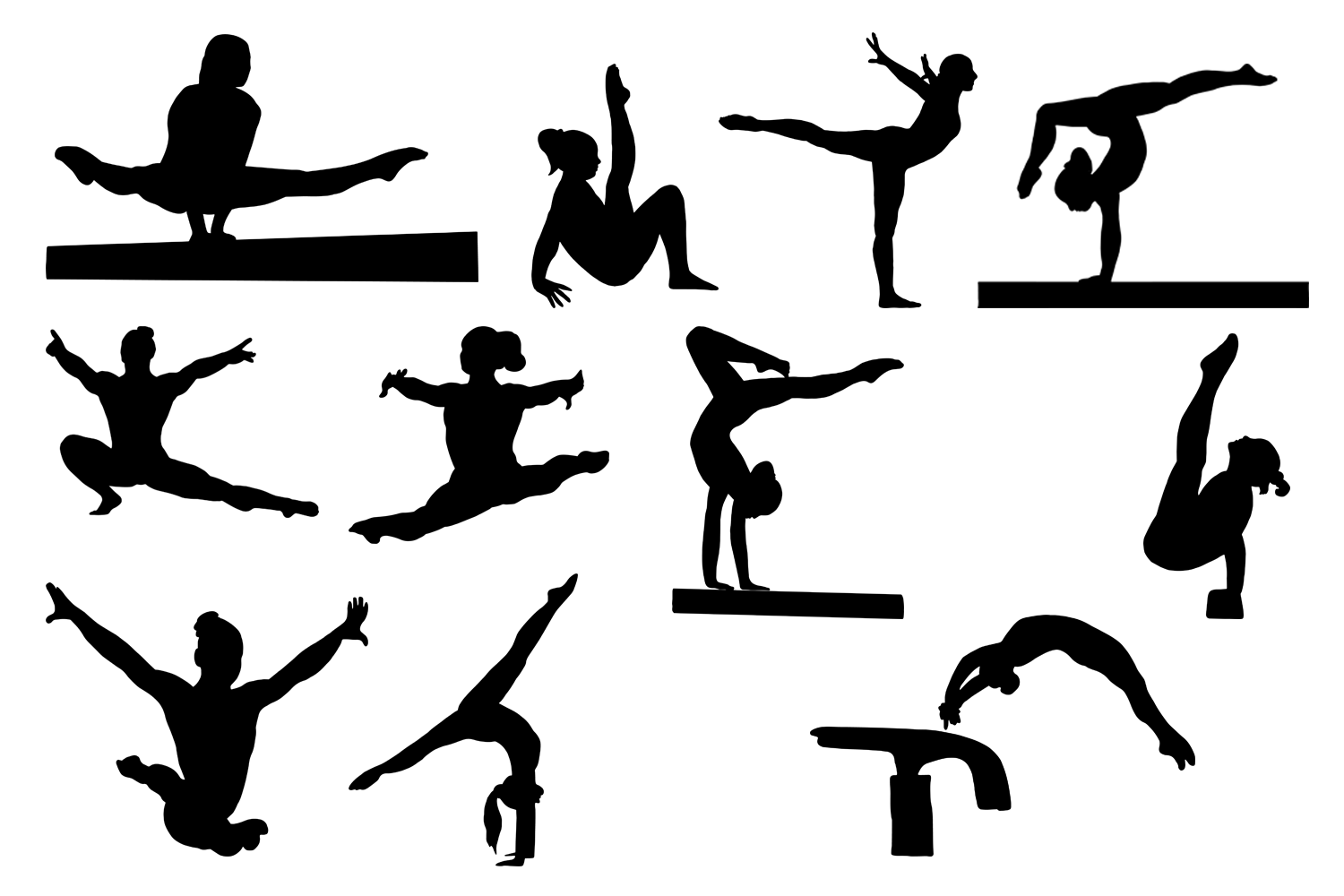 gymnast silhouettes flipz gymnastics recreational competitive classes in gymnast silhouettes