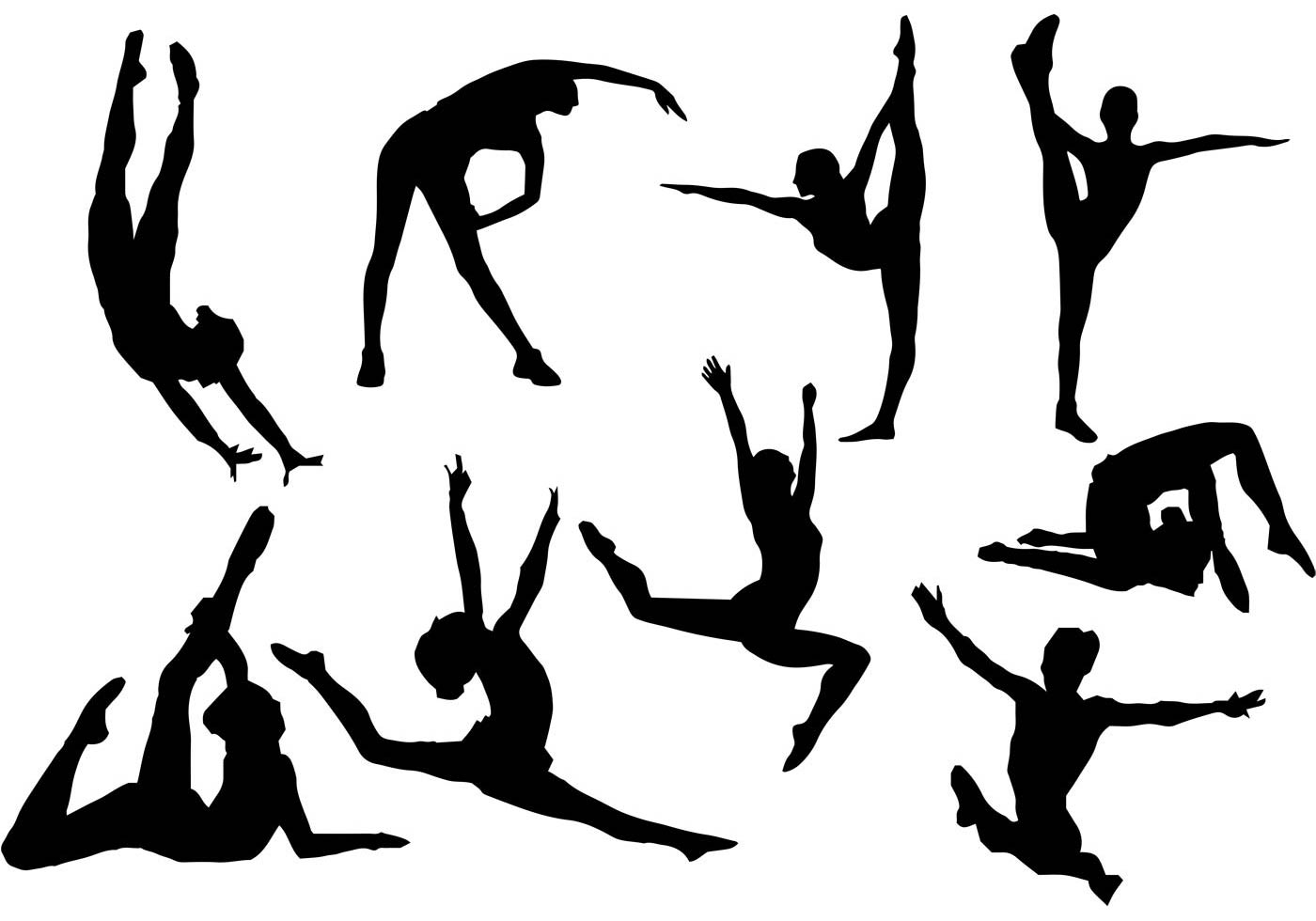 gymnast silhouettes silhouette of a gymnast at getdrawings free download gymnast silhouettes