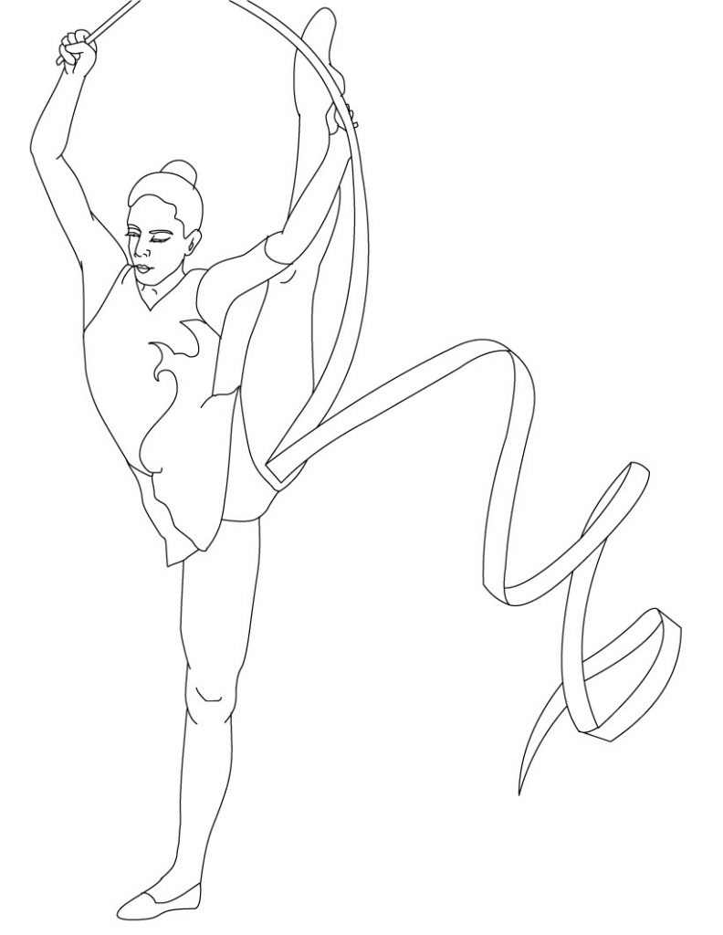 gymnastics coloring pictures free printable gymnastics coloring pages for kids gymnastics coloring pictures