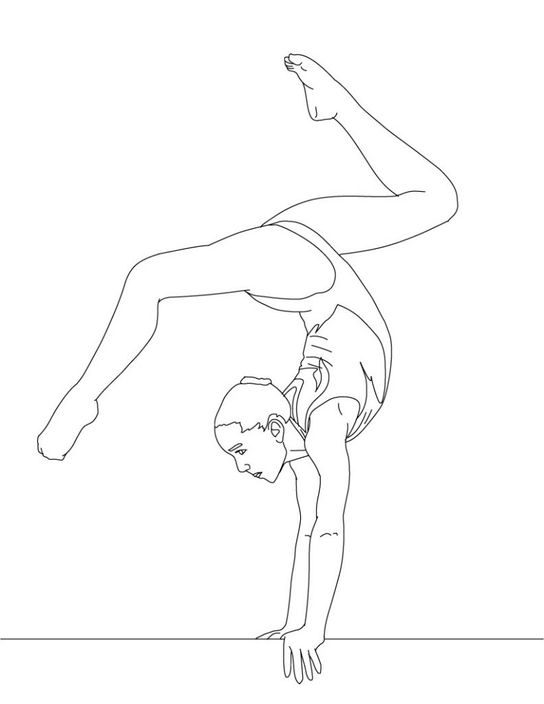 gymnastics coloring pictures free printable gymnastics coloring pages for kids gymnastics pictures coloring