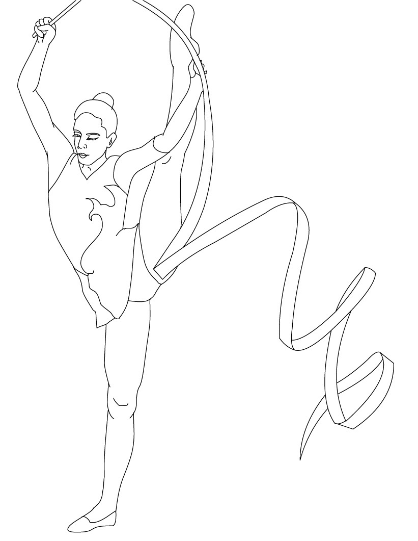 gymnastics coloring pictures free printable gymnastics coloring pages for kids gymnastics pictures coloring 1 1