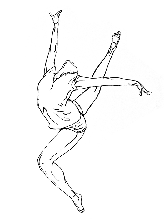 gymnastics sketches gymnast drawing inspired by the scene in stick it i39m gymnastics sketches