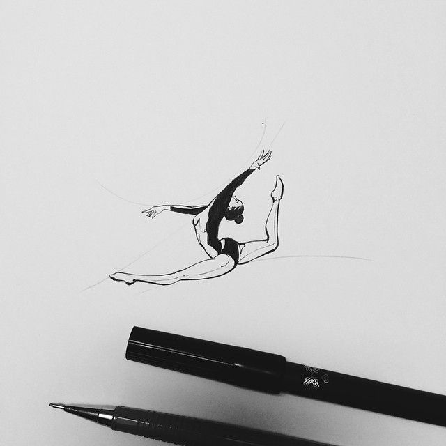 gymnastics sketches step by step how to draw a gymnast drawingtutorials101com sketches gymnastics