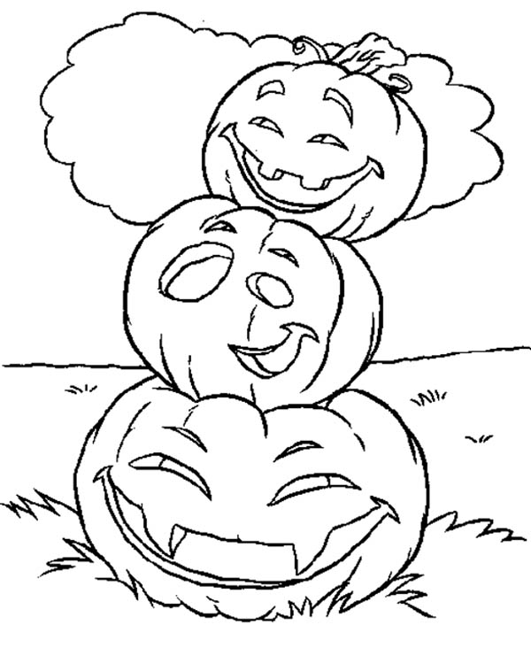 halloween pictures of pumpkins to color halloween complex pumpkin with flowers and leaves pumpkins to halloween pictures color of