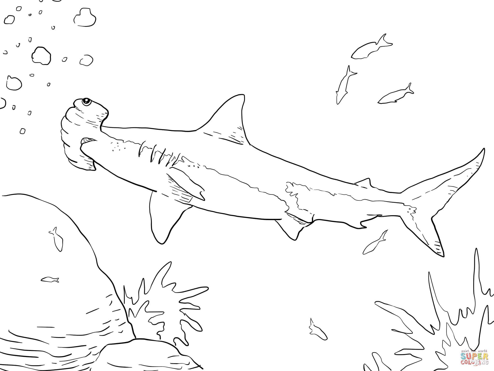 hammerhead shark pictures to color hammerhead shark coloring pages free coloring home shark pictures hammerhead to color