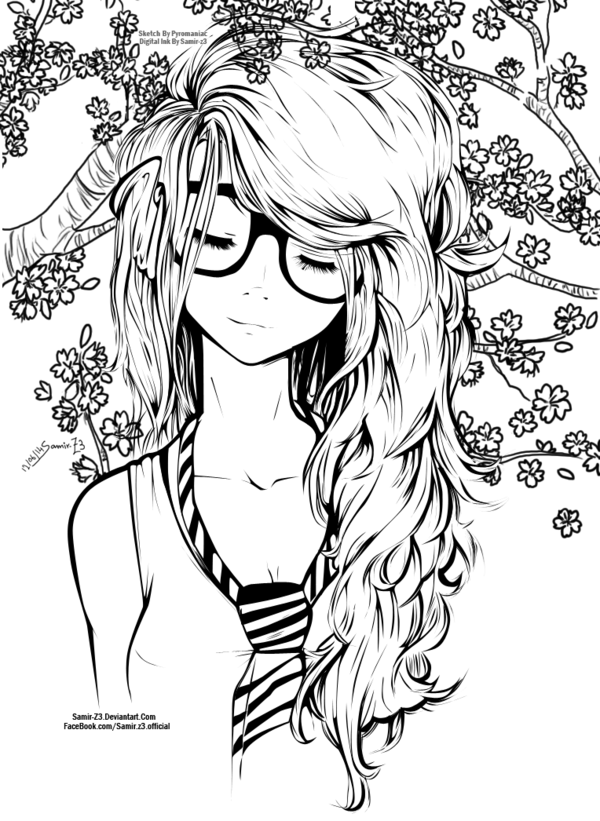 hard anime coloring pages anime lineart transparent google search colorir pages anime hard coloring