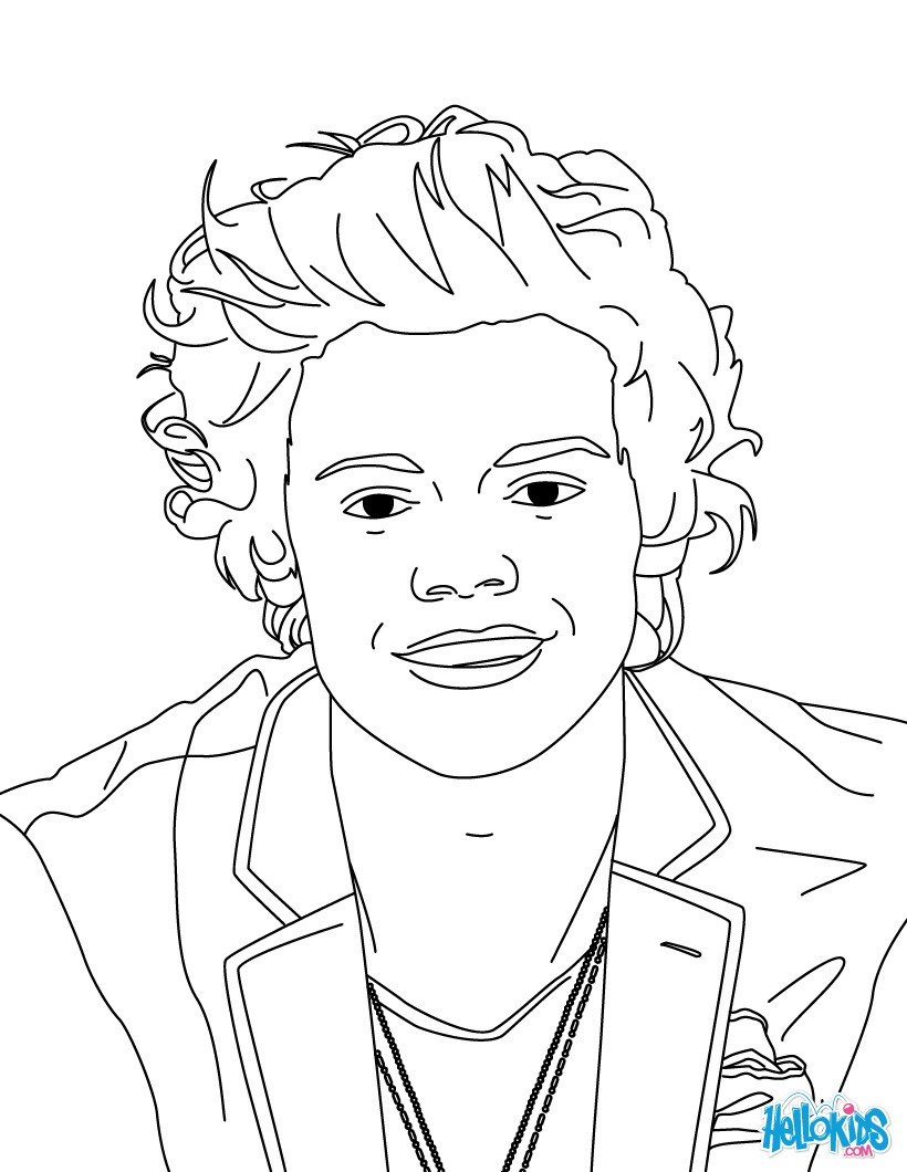 harry styles coloring pages harry styles coloring page free printable coloring pages harry coloring styles pages