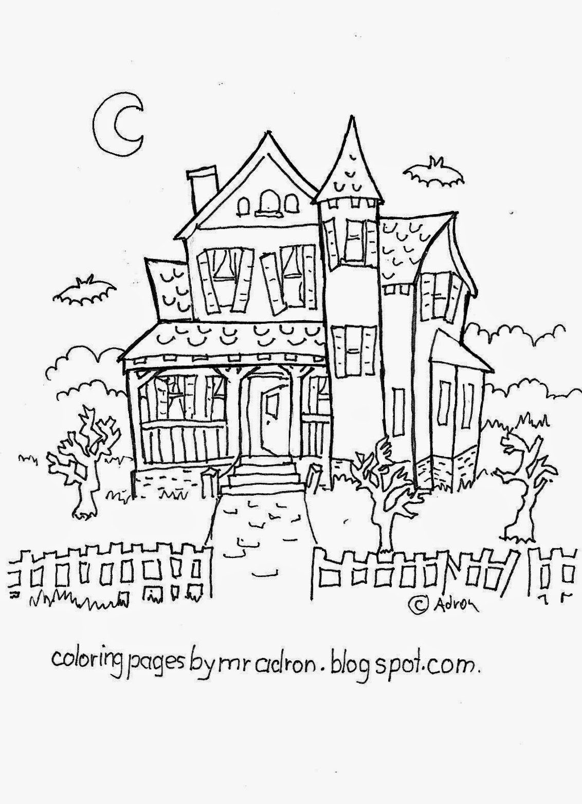 haunted house coloring pages for kids haunted house coloring pages for kids pages kids coloring house haunted for