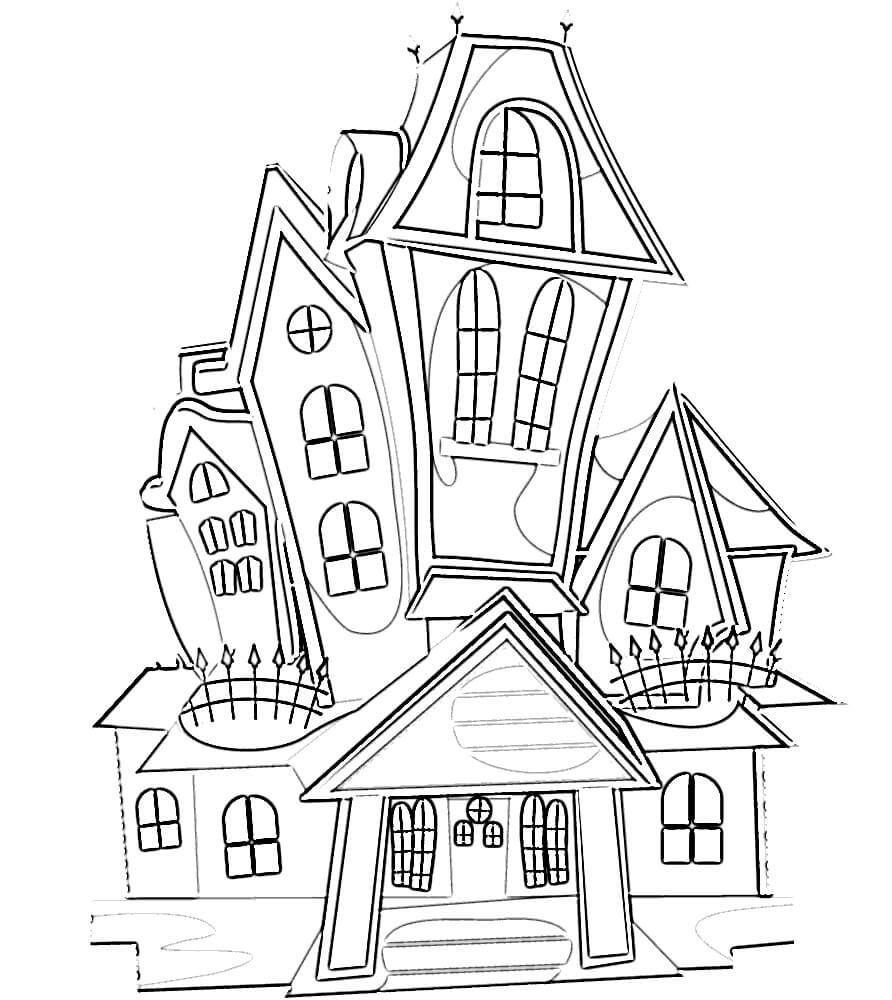 haunted house coloring pages for kids printable haunted house coloring pages for kids cool2bkids house kids pages haunted for coloring