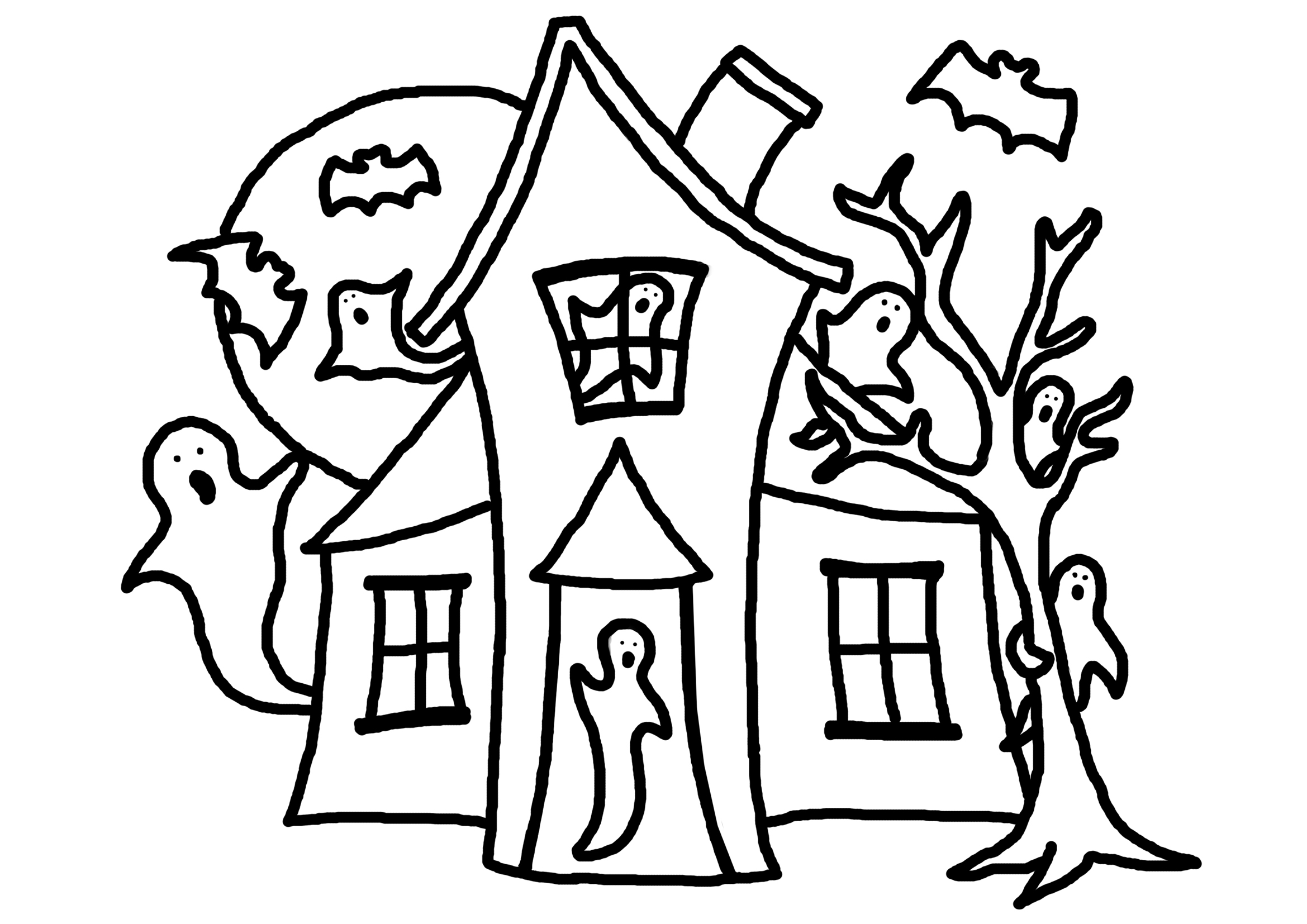 haunted house coloring pages for kids scary haunted house coloring pages download and print for free pages house kids haunted for coloring