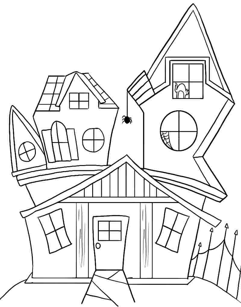 haunted house printable coloring pages free printable coloring sheets halloween haunted house for printable pages house haunted coloring