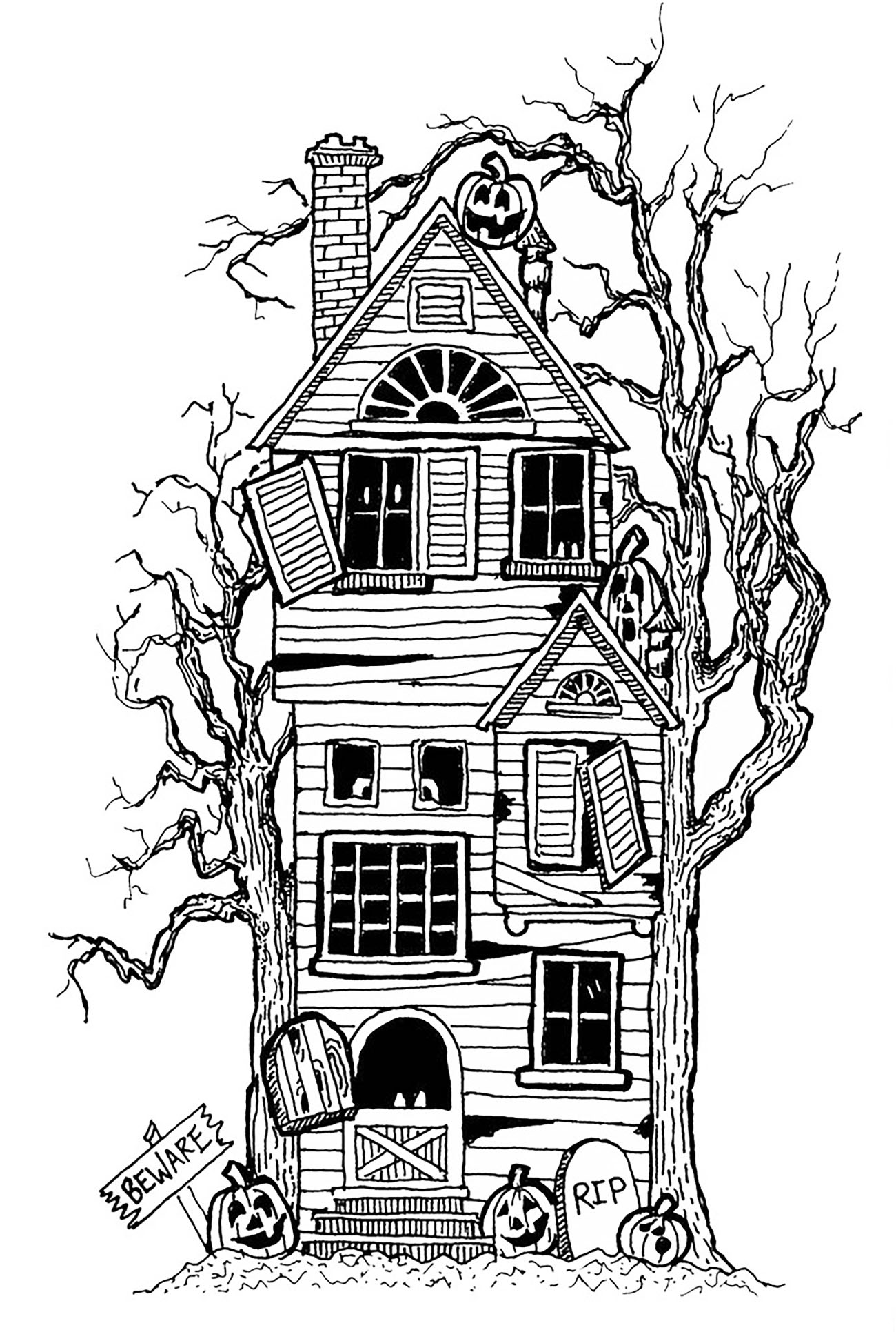 haunted house printable coloring pages halloween big haunted house halloween adult coloring pages printable coloring haunted house pages