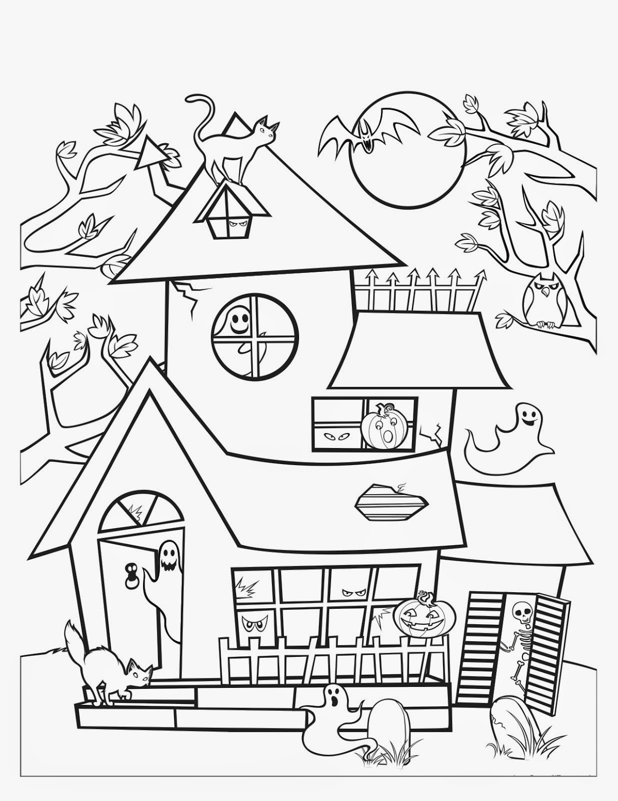 haunted house printable coloring pages haunted house coloring page pdf coloring pages house printable pages haunted coloring