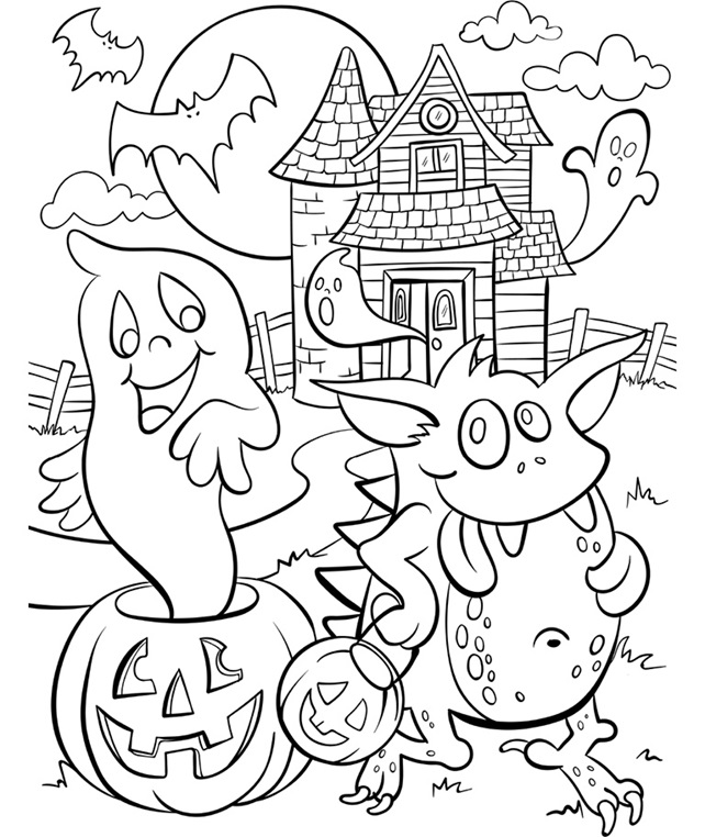 haunted house printable coloring pages pin by mar claros on halloween house colouring pages printable haunted coloring house pages