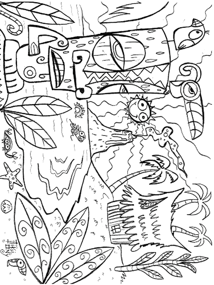 hawaii coloring page hawaii coloring pages mzinepluscom coloring hawaii page