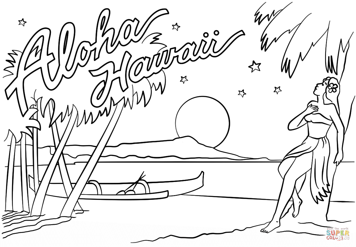 hawaii coloring page hawaii state beauty coloring pages to kids page coloring hawaii