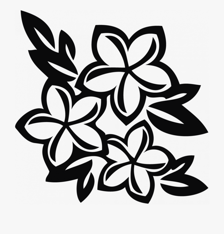 hawaiian flower coloring coloring pages drawn hawaiian flowers flower black hawaiian flower coloring