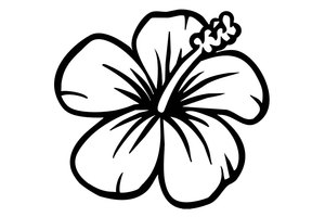 hawaiian flower coloring coloring pages tropical coloring home coloring flower hawaiian