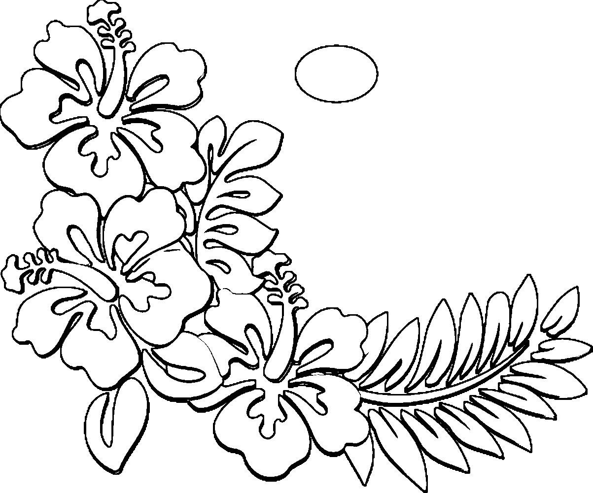 hawaiian flower coloring hawaiian flower coloring pages printable at getcolorings hawaiian coloring flower