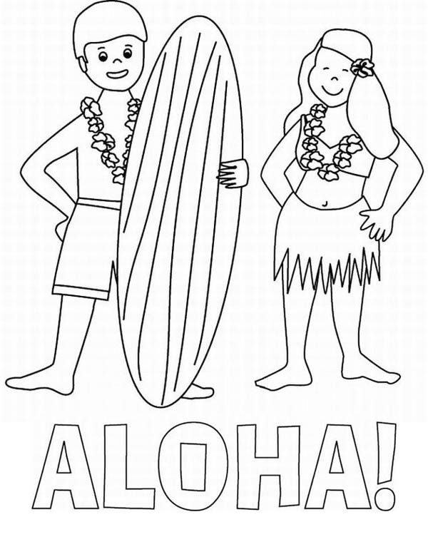 hawaiian pictures to color coloring pages for hawaii coloring home color to hawaiian pictures