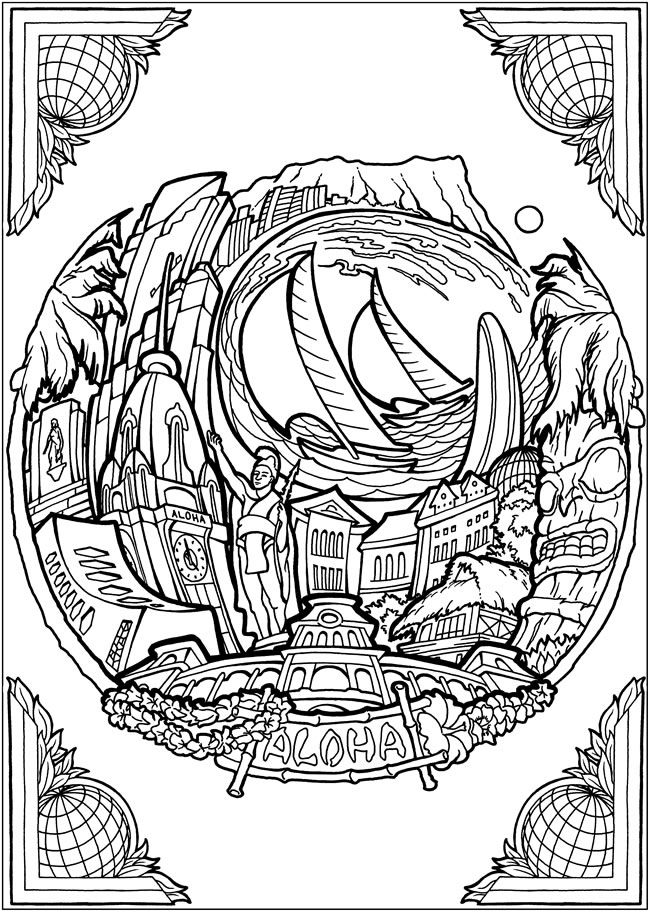 hawaiian pictures to color free adult coloring pages from hawaii artists and our to hawaiian pictures color