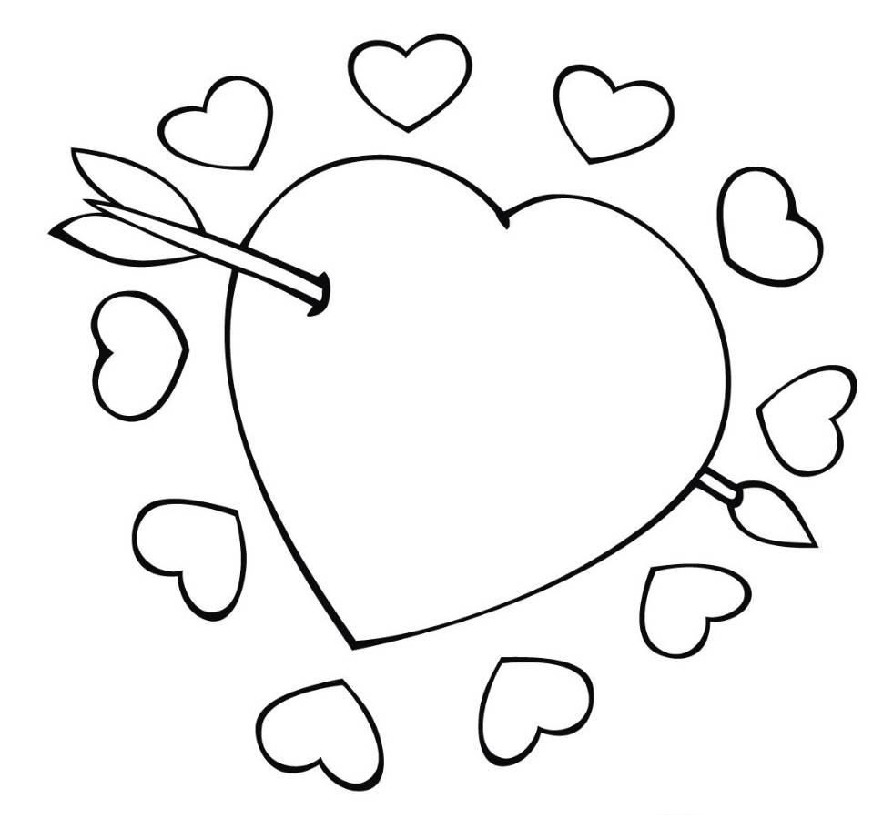 heart color sheets 8 small hearts coloring page print color fun heart sheets color