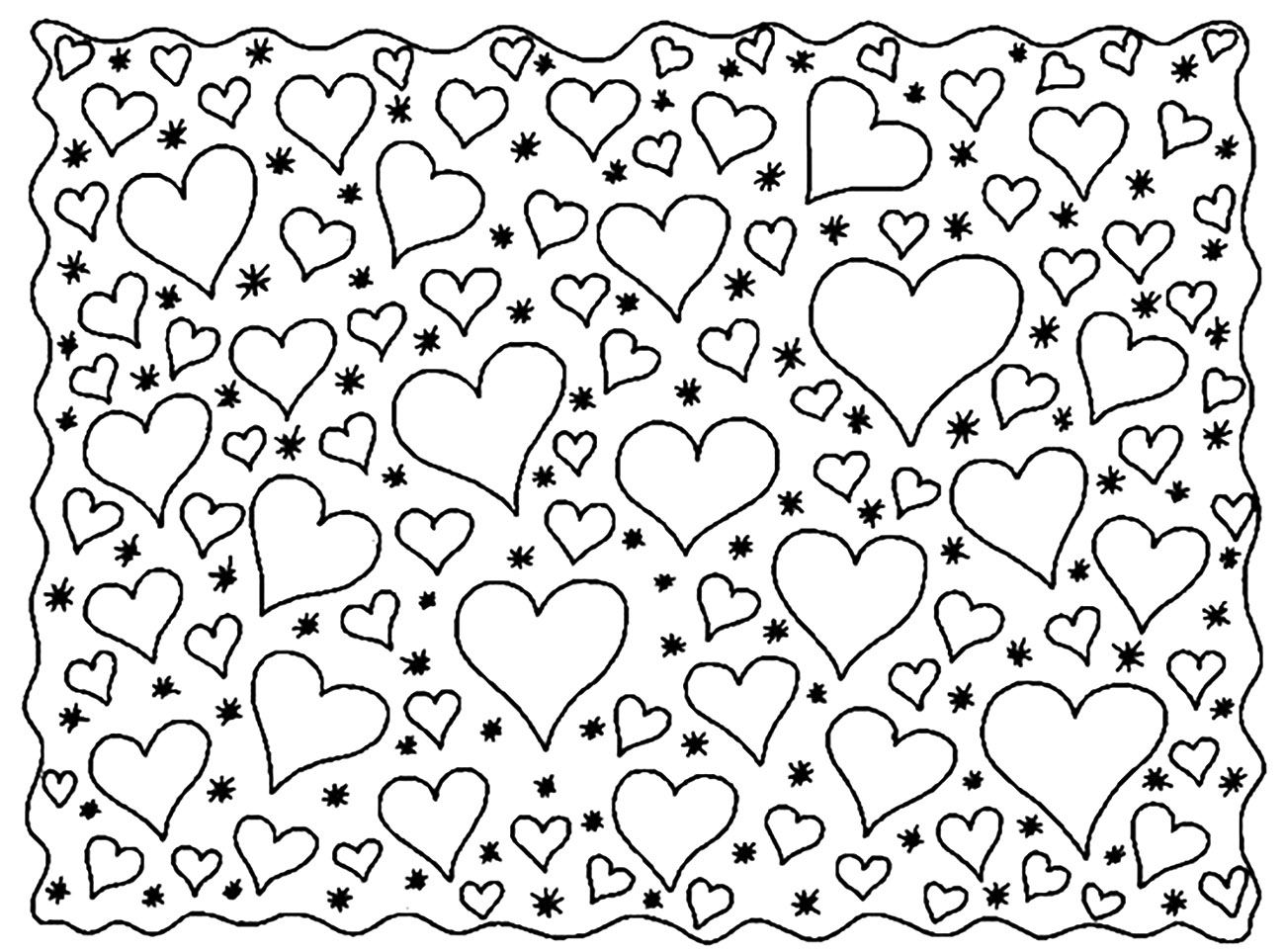 heart color sheets easy heart coloring pages for kids stripe patterns heart color sheets
