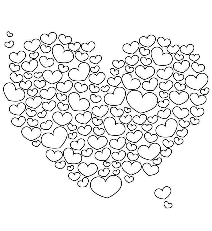heart color sheets heart coloring pages for adults heart sheets color