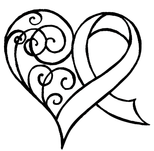 heart with ribbon coloring pages color page of a heart with ribbons design for kidz ribbon pages coloring with heart