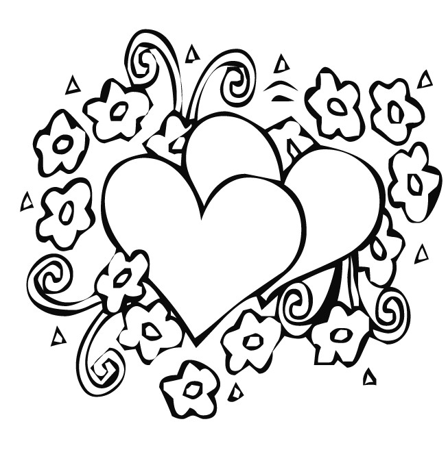 heart with ribbon coloring pages free drawings of heart with ribbon download free clip art heart with pages ribbon coloring