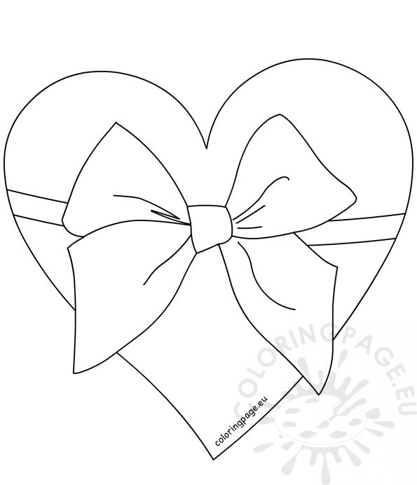 heart with ribbon coloring pages heart with ribbon in tattoo style vector illustration coloring pages with heart ribbon
