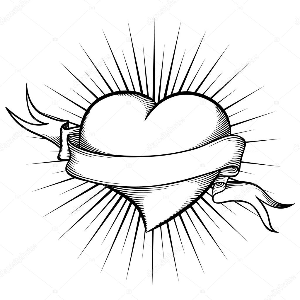 heart with ribbon coloring pages hearts with ribbons drawing at getdrawings free download ribbon pages heart coloring with