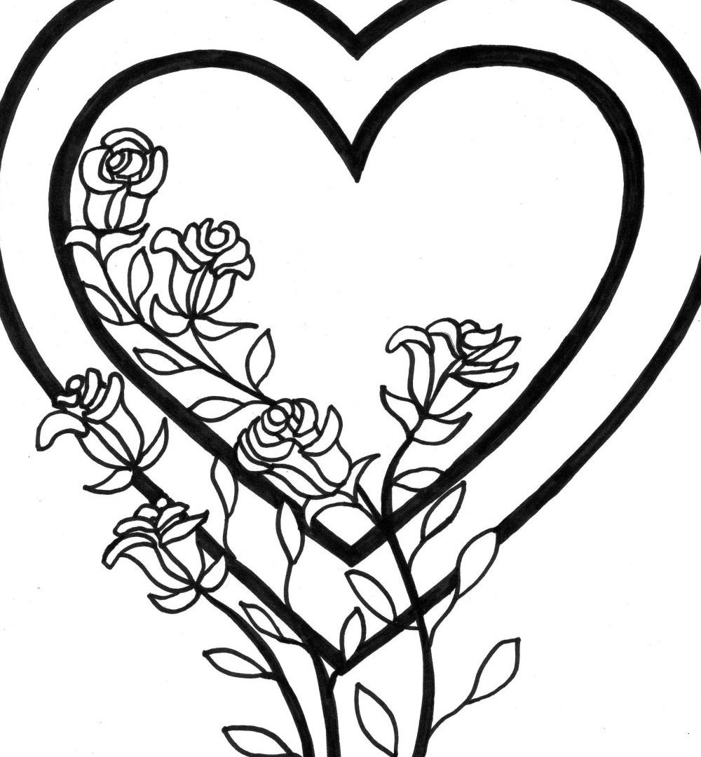 heart with ribbon coloring pages qetupa coloring pages of hearts with ribbons coloring heart with pages ribbon