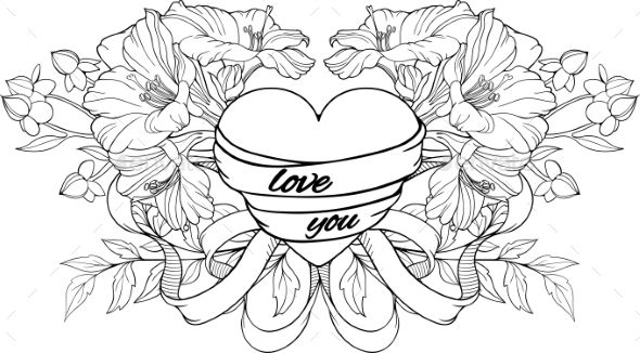 heart with ribbon coloring pages valentine heart coloring pages minister coloring heart pages coloring ribbon with