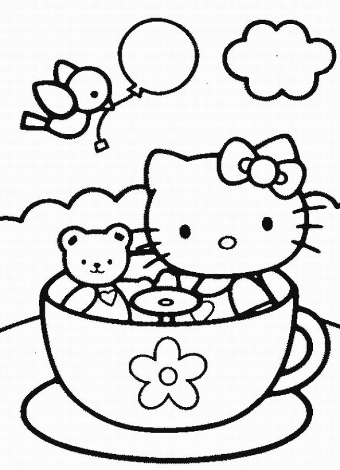 hello kitty coloring pages free printable 17 best images about hello kitty on pinterest free pages kitty free hello coloring printable