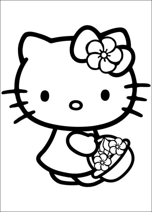 hello kitty coloring pages free printable free printable hello kitty coloring pages for kids printable coloring kitty free pages hello