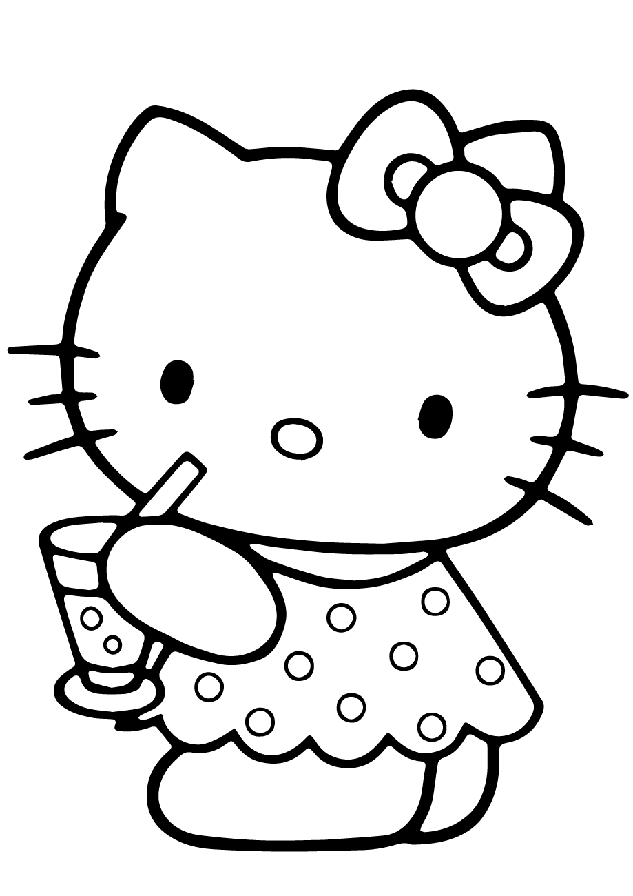 hello kitty coloring pages free printable summer coloring pages for kids print them all for free pages free coloring kitty hello printable
