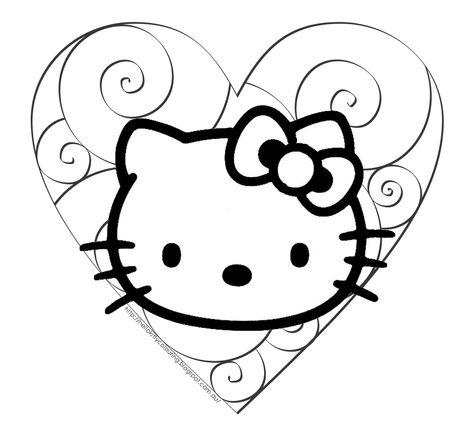 hello kitty images to color free printable hello kitty coloring pages for pages hello kitty images to color
