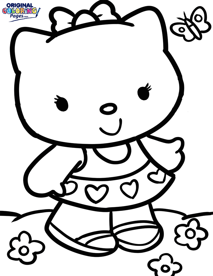hello kitty images to color hello kitty color sheets coloring home images kitty color to hello