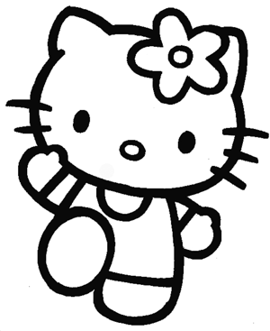 hello kitty outline picture hello kitty coloring book sheet black and white hello hello kitty outline picture