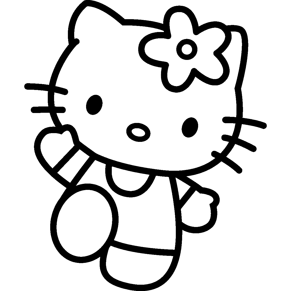 hello kitty outline picture hello kitty line drawing free download on clipartmag picture hello kitty outline