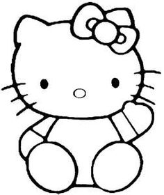 hello kitty outline picture hello kitty nerd coloring page free coloring pages online outline hello picture kitty
