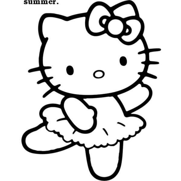 hello kitty outline picture hello kitty outline i just want the outline and a colored kitty picture hello outline