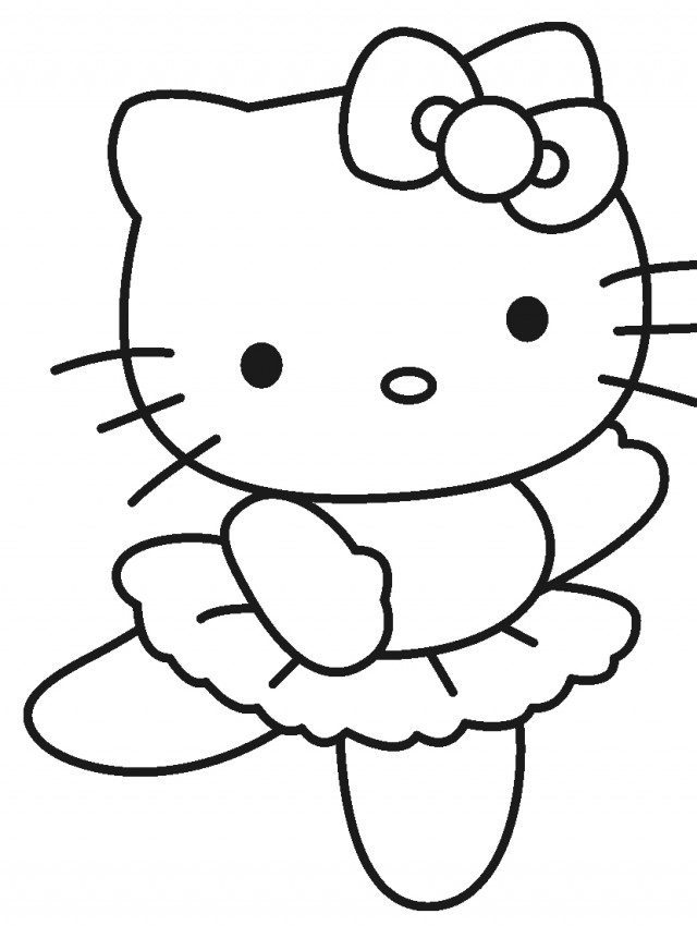 hello kitty outline picture hello kitty silhouette at getdrawings free download outline hello kitty picture