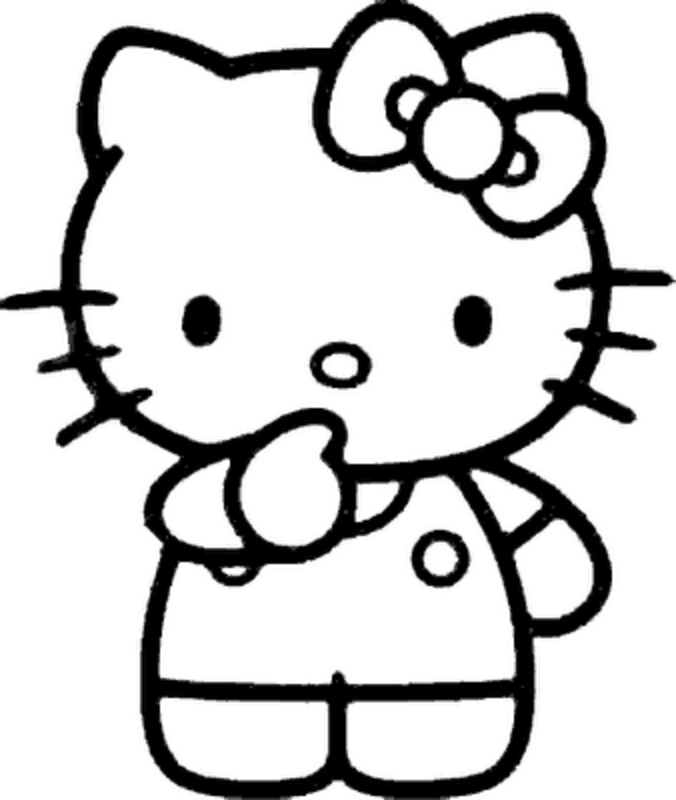 hello kitty outline picture hello kitty with balloons images clipart best picture hello outline kitty