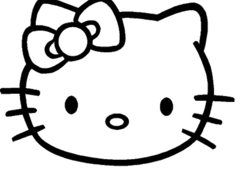 hello kitty outline picture mermaid clipart black and white free download on clipartmag picture outline kitty hello