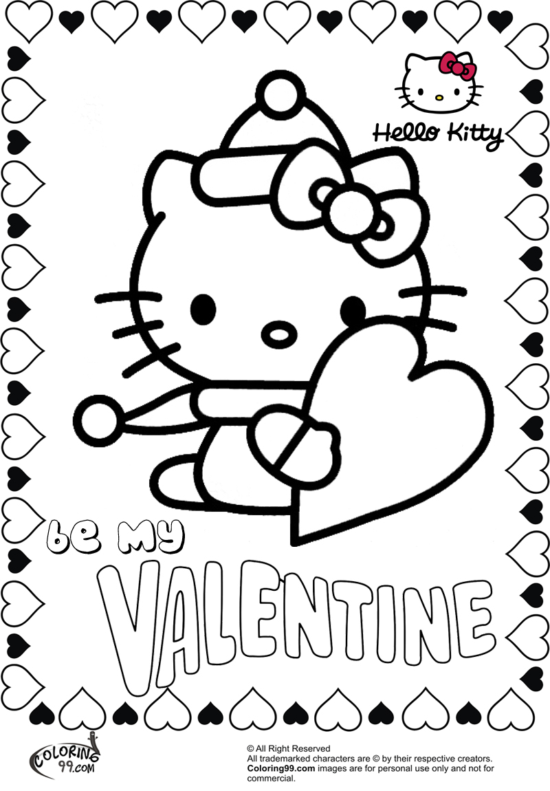 hello kitty valentines coloring pages hello kitty valentine coloring pages team colors valentines hello coloring kitty pages